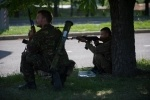 Фоторепортаж: «Бои в Донецке 26 мая 2014 »