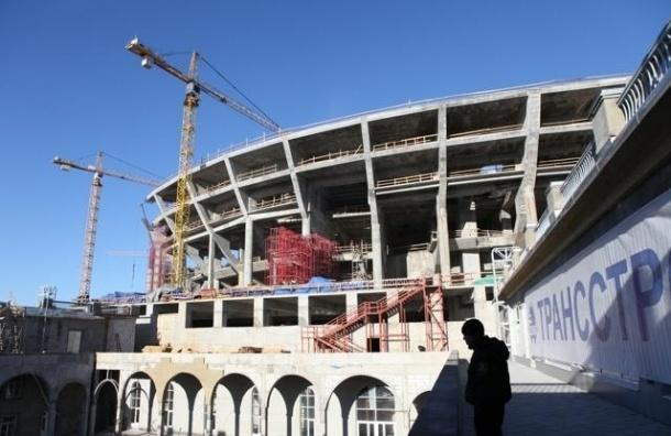 В Петербурге началась внешняя отделка стадиона «Зенит-Арена»