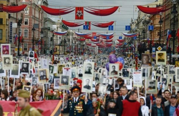Ветераны и бойцы «Бессмертного полка» прошли по Невскому проспекту