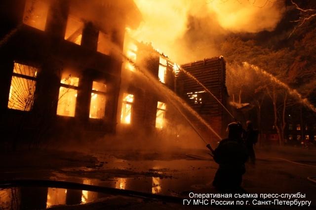 В Петербурге произошел пожар в психиатрической больнице Скворцова-Степанова: Фото