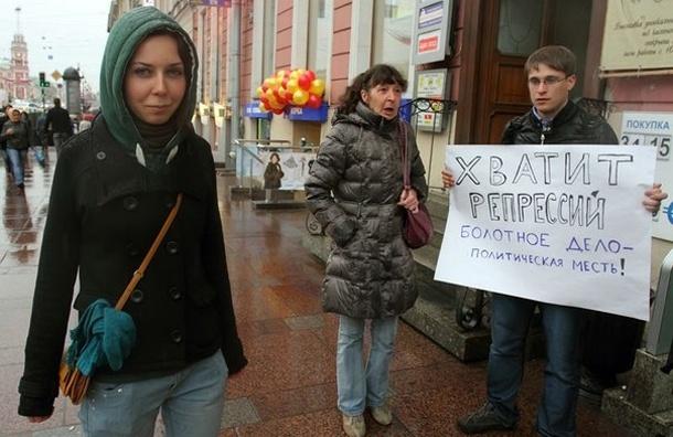 Соратники Полины Стронгиной оккупируют Невский пикетами