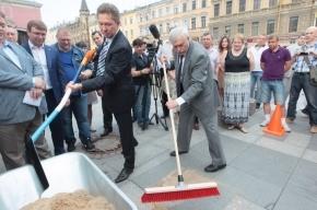 Полтавченко принял ремонтные работы «Газпрома» на улицах Рубинштейна и Марата