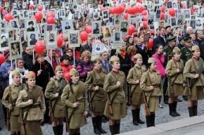 На Невском проспекте проходит шествие ветеранов и «Бессмертного полка»