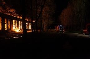 В Ленобласти выгорел склад на Павильоне Урицкого