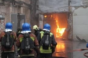 В Купчино сгорел ангар с бытовой химией