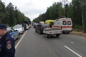 В Подмосковье в аварии с автобусом пострадали десятки пассажиров