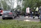 Три человека погибли в лобовом столкновении под Красным Селом 2 июня 2014: Фоторепортаж