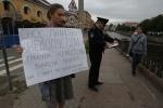 В Петербурге состоялся пикет в защиту Никольских рядов: Фоторепортаж