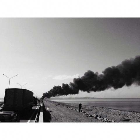 В Петербурге на Кольцевой сгорел бензовоз 6 июня 2014: Фото