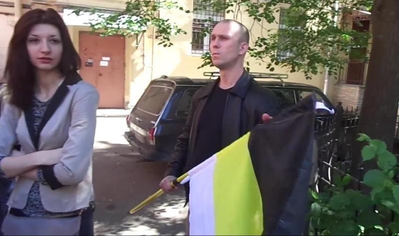 Антон Раевский на акции 15 июня, скриншот youtube.com