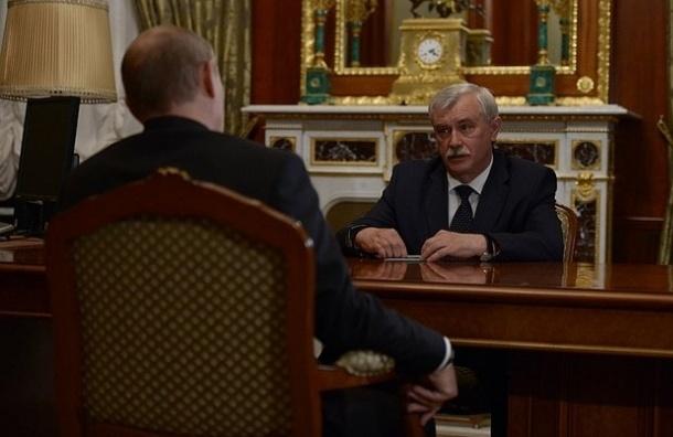 Полтавченко доложил Путину, что врачи в Петербурге получают по 48 тысяч