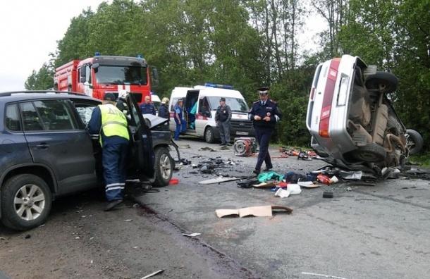 Три человека погибли в лобовом столкновении под Красным Селом