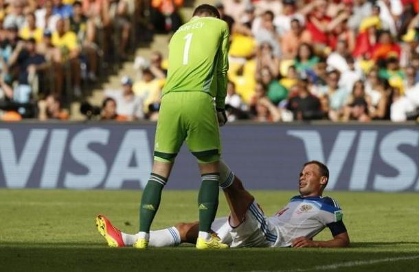 Сборная России проиграла Бельгии со счетом 1:0