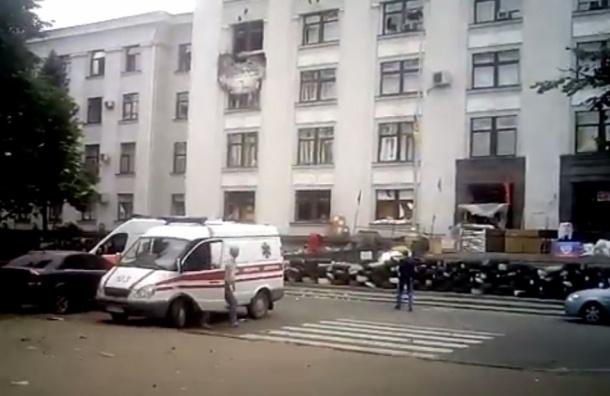 ВВС Украины нанесли авиаудар по зданию администрации в Луганске