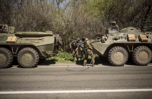 Украинская армия начала танковую атаку в Славянске