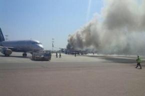 В Шереметьево загорелся самолет «Аэрофлота»