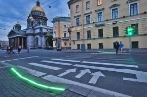 Светодиодный пешеходный переход появился у Исаакиевской площади
