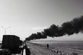 В Петербурге на Кольцевой сгорел бензовоз