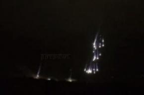 СМИ: На Славянск сброшены зажигательные бомбы