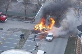 В Киеве взорвался автомобиль с луганскими номерами