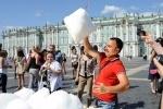 Снег на Дворцовой: Фоторепортаж