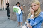 В Петербурге прошли пикеты против фальсификации выборов: Фоторепортаж