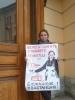 В Петербурге прошел одиночный пикет в защиту Блокадной подстанции: Фоторепортаж