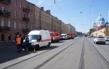 В центре Петербурга сгорела крыша жилого дома: Фоторепортаж