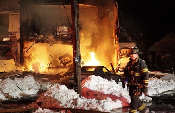 Под Петербургом пьяный мужчина взорвал магазин
