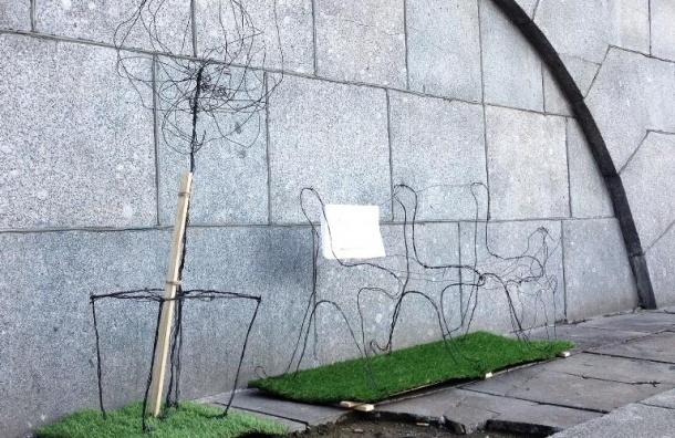 На Обводном канале установили странные арт-объекты