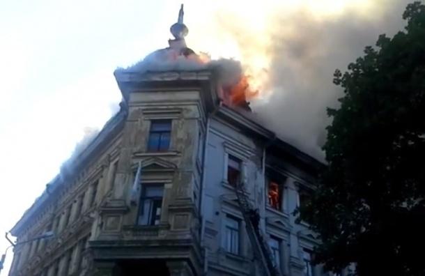 В Выборге сгорел ненужный властям памятник архитектуры XIX века