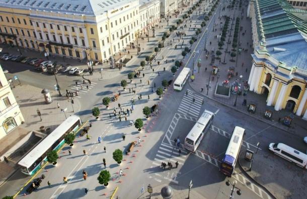 Активисты опубликовали концепцию пешеходного Невского