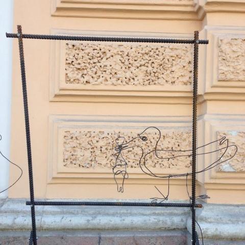 На Обводном канале установили странные арт-объекты: Фото