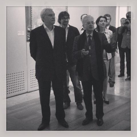 Полтавченко пришел на выставку современного искусства: Фото