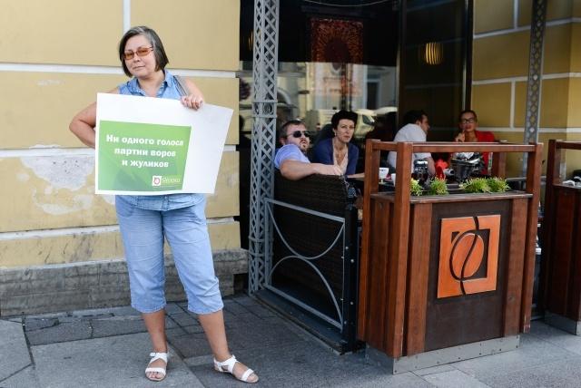 В Петербурге прошли пикеты против фальсификации выборов: Фото