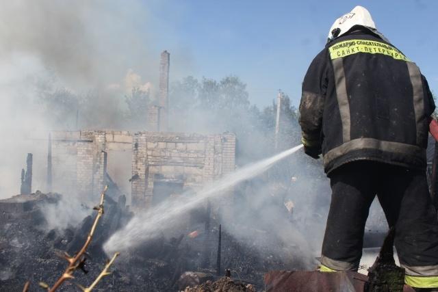 В Красносельском районе тушат пожар по повышенному номеру сложности: Фото