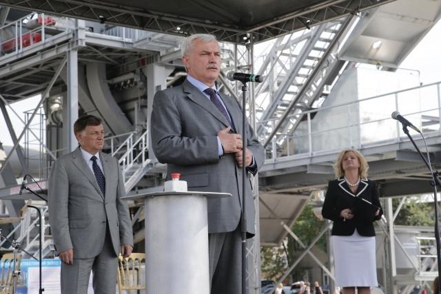 Полтавченко открыл асфальтобетонный завод: Фото