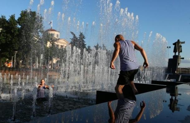 В Петербурге купальщики разгромили два городских фонтана
