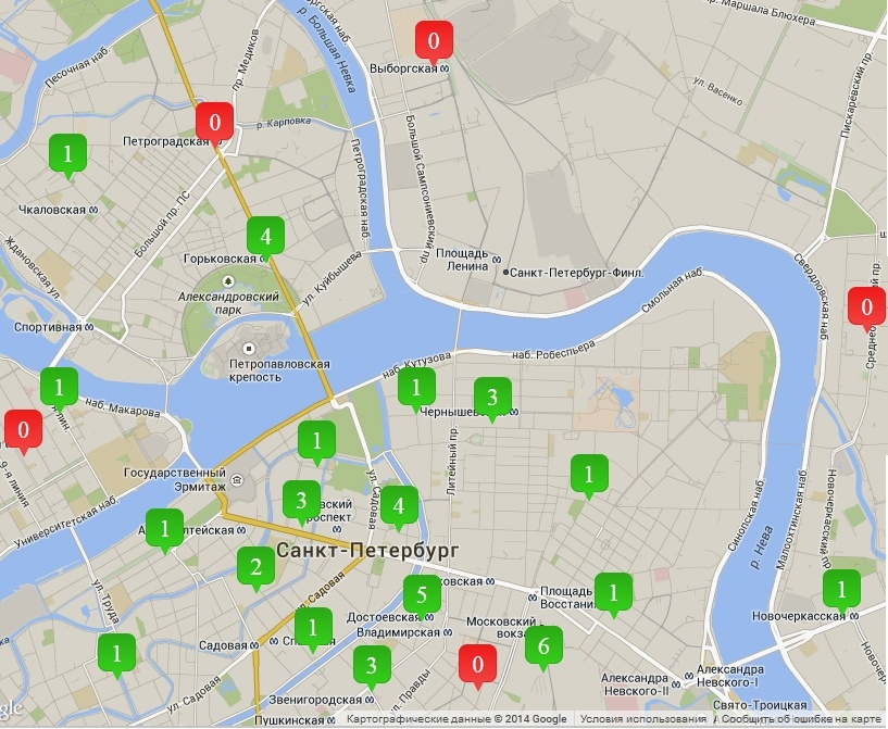 Карта сайта petersbike.ru