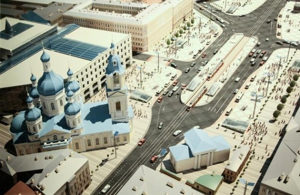 Сенную площадь реконструируют за 1,3 млрд рублей