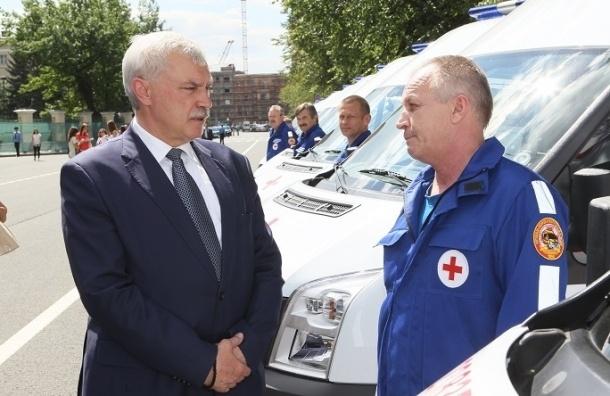 В Петербурге автопарк скорой помощи пополнили 58 машин