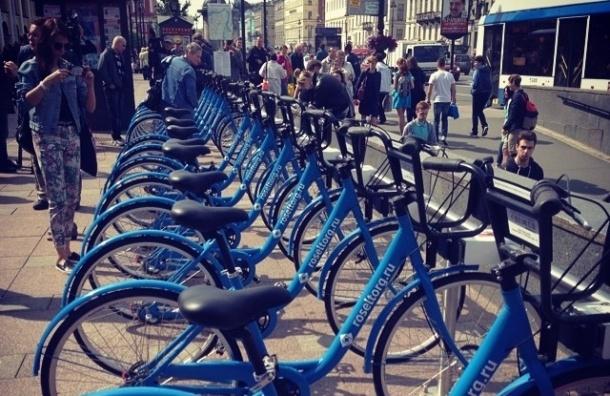 В Петербурге открылось 28 пунктов велопроката