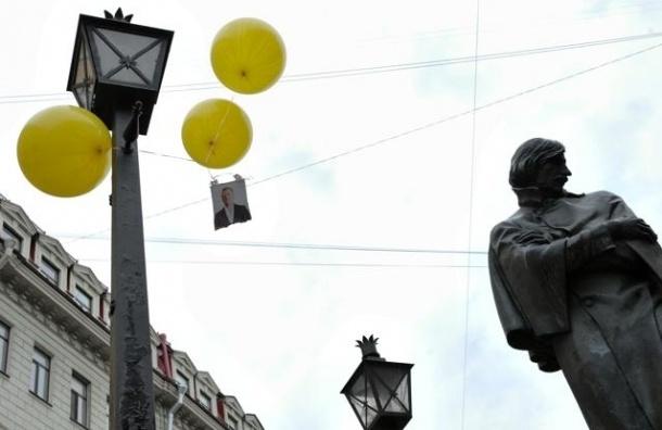 В Петербурге пятерых активистов с воздушными шариками доставили в полицию