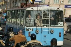 В центре Москвы утром сгорел троллейбус