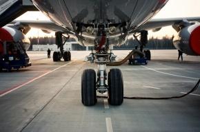 Самолет из Краснодара приземлился в Новосибирске с полуразрушенным колесом шасси