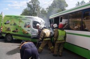 В ДТП в Пушкине погиб водитель маршрутки