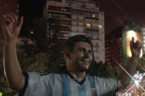 Вандалы изуродовали статую футболиста Месси в Аргентине