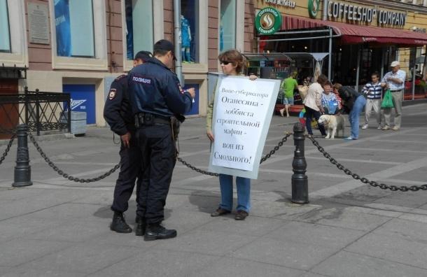 В Петербурге  проходят пикеты за отставку строительного губернатора Оганесяна