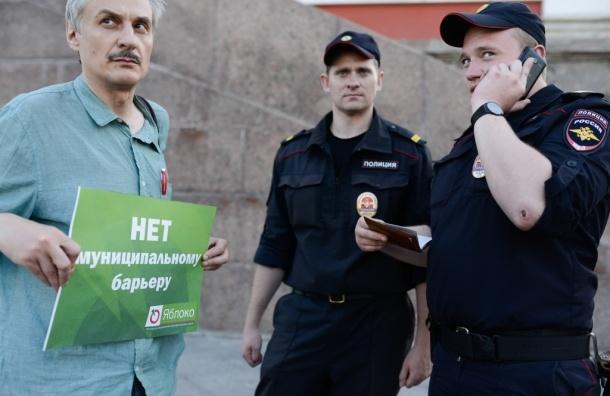 В Петербурге прошли пикеты против фальсификации выборов
