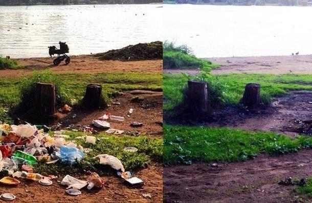 После публикации «МР» берега Суздальских озер очистили, но лишь частично